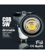 5W  dimmable/Non-dimmable GU10 COB led spotlight fitting