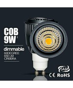 9W  dimmable/Non-dimmable GU10 COB led spotlight fitting