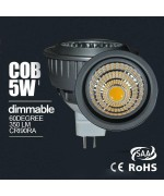 5W  dimmable/Non-dimmable MR16 COB led spotlight fitting