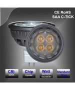 5W  dimmable/Non-dimmable MR16 SMD led spotlight fitting