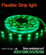 Flexible strip light, 60pcs 3528 leds, Non-waterproof  ..
