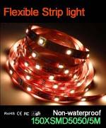 Flexible strip light, 30pcs 5050 leds, Non-waterproof