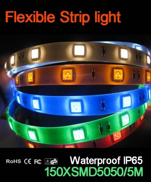 Flexible strip light, 30pcs 5050 leds, Waterproof  IP65