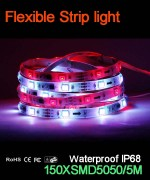 Flexible strip light, 30pcs 5050 leds, Waterproof  IP68