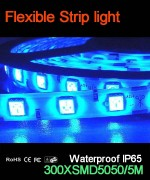 Flexible strip light, 60pcs 5050 leds, Waterproof IP65