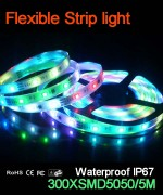 Flexible strip light, 60pcs 5050 leds, Waterproof IP67