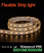 Flexible strip light, 60pcs 5050 leds, Waterproof IP68